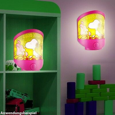 LED Table Light Baby Deco Lighting Snoopy Motif Children Room Wall Lamp