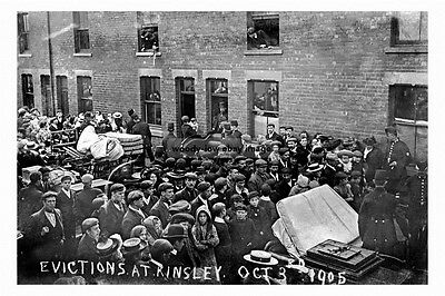 pt2475 - Evicted Miners , Kinsley , Yorkshire 1905 - photograph 6x4