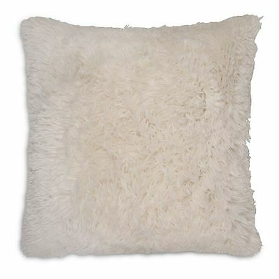 "Long Pile Super Soft and Cuddly Shaggy 17x17"" (43x43cm) Cushion Cover (Cream)"
