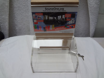 Source One Heavy Duty Small Donation/Ballot Box With Lock & Sign Holder Sourceon