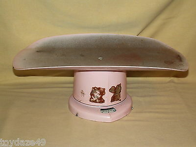 Baby Scale Rexall Drug Co Vintage Pink Infant Nursery Doctor Used Little Girl's