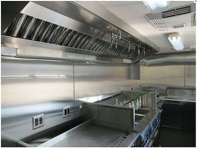 8' Compact Food Truck Hood System with Exhaust Fan