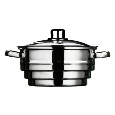 Bonsoni Stainless Steel Glass Lid Steamer by Protege Homeware