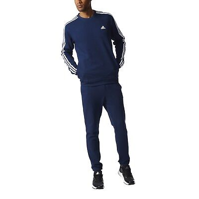 adidas Herren Sport Fitness Trainingsanzug Cotton Chill out Tracksuit navy