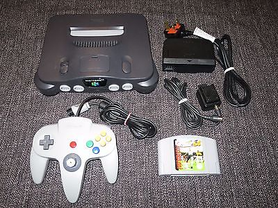 Nintendo 64 N64 Pal Console Bundle With Official Controller & Game
