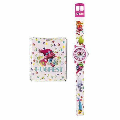 Officially Licensed Children's Dreamworks Trolls Watch and Torch Set