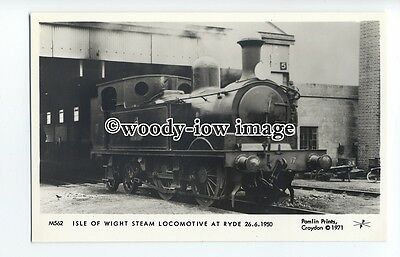 pp2000 - Isle of Wight Steam Locomotive at Ryde, in 1950 - Pamlin postcard