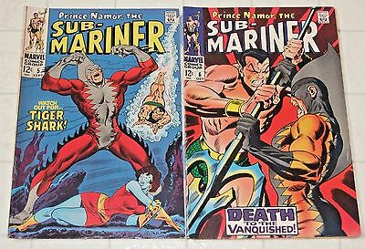 2 lot The SUB-MARINER  #5 and #6  (Marvel, 1968)