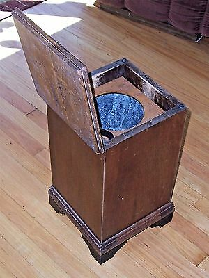 Antique Medical Office WD Allison Waste Receptacle, Turn of the Century J2490