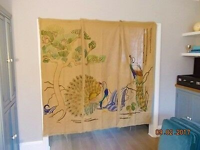Oriental style Hand Embroidered Wall Hangings