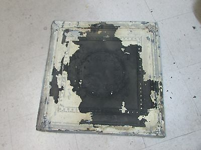 Antique Ceiling Tin-Tile #10-Vintage-Primitive-2x2 ft-Old Architectural-Original