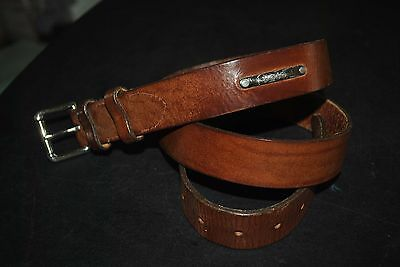 Vintage Men's Brown Leather Polo Ralph Lauren Belt Sz 40