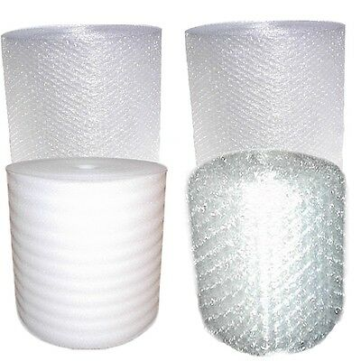 450-500 FT Bubble +WRap Foam + AND Small Rolls Bubbles FREE SHIPPING Large Combo