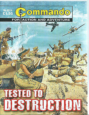 Tested To Destruction,commando For Action And Adventure,no.4314,war Comic,2010