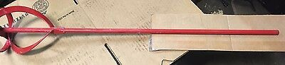 Hex Shank Paint Mixer Cement Plaster Adhesive Mixing Stirrer Paddle Tool Red 30""