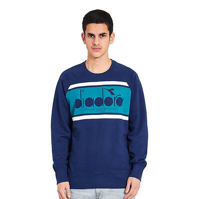 Diadora - BL Sweater Estate Blue / Porcelain Green Pullover Rundhals