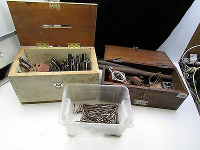Threading Tap and die set 100's assorted bits