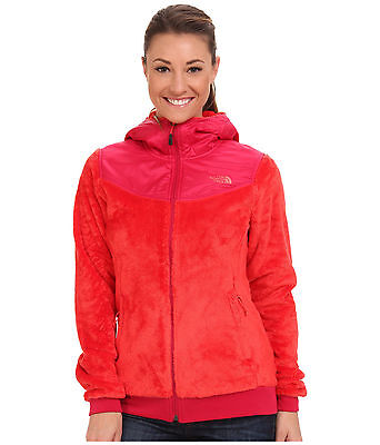 New Women's The North Face Oso Hooded Fleece Jacket Pink Large