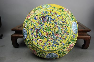 QianLong Marked Chinese Enamel Circular Box And Domed Cover