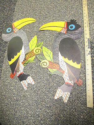 C&H sugar 1960s store display sign (1) Hawaii TOUCAN bird cockatoo jungle
