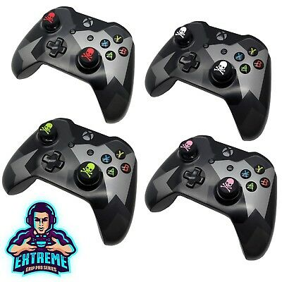 2 x [Skull Series] Thumb Stick Cover Grip Caps For Microsoft Xbox 360 Controller