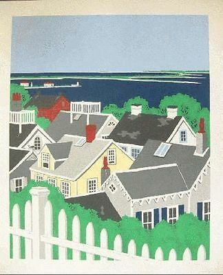 Eric Holch Original Screenprint Hand Signed Numbered Limited Edition Rooftops