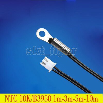 Waterproof Temperature Sensor Probe Thermistor Screw fixed NTC10K 1M 2M 5M 10M