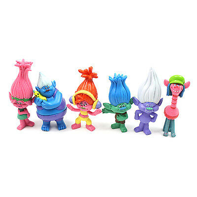 Trolls Toys Figures 2A - 6 Pcs Set Action Characters