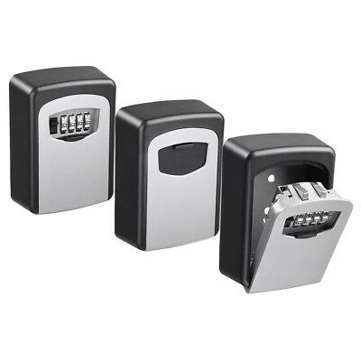 4 Digit Combination Key Lock Box Wall Mount Safe Security Storage Case Pack of 3