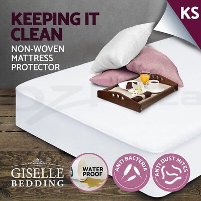 Fully Fitted Waterproof Mattress Protector Non Woven King Single Cover