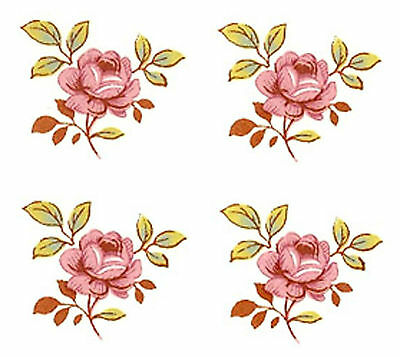 "16 Sweet Pink Dot Rose Roses Flower 3/4""  (20mm) Waterslide Ceramic Decals Bx"