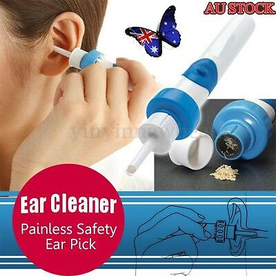 Electric Ear Cleaner Pick Removal Wax Remover Cordless Vacuum Easy Painless Tool