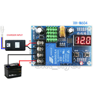 Lithium Battery Charger Control Module DC 6-60V Charging Switch Protection Board