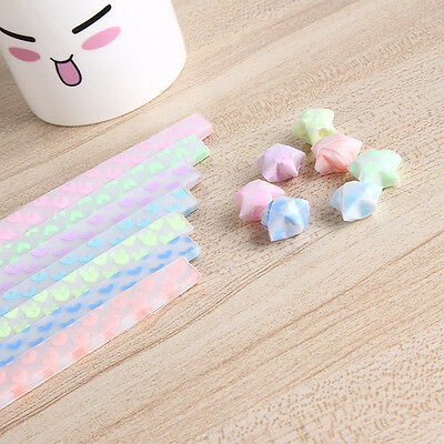 Glow in Dark Lucky Star Origami Folding Plastic Strip Paper Heart Bowknot Design