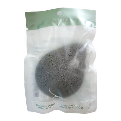 The Face Shop Daily Beauty tools Charcoal and Konjac Cleansing Puff