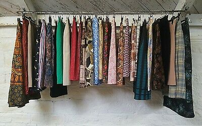 Job Lot Ladies Vintage Zany High Waist Floral Summer Day Time Skirts J319