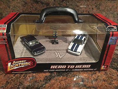 1965 & 2005 Ford Mustang GT, Johnny Lightning 1/64 Scale Diecast Cast Twin Set