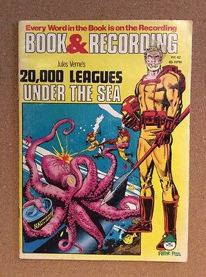 """Peter Pan book & recording - 20,000 LEAGUES UNDER THE SEA - comic & 7"""" record"""
