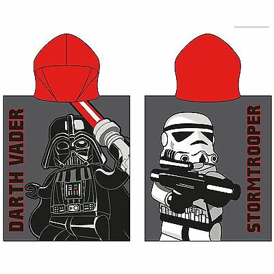Official Lego Star Wars Villains Cotton Hooded Poncho Towel New Lg7Viltw001