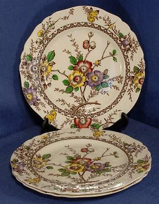 "3 x Alfred Meakin Pottery 'Medway' Pattern 9"" Plates"