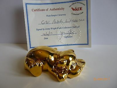 Wade Whimsie Pottery Pets Gold Patch Le 20