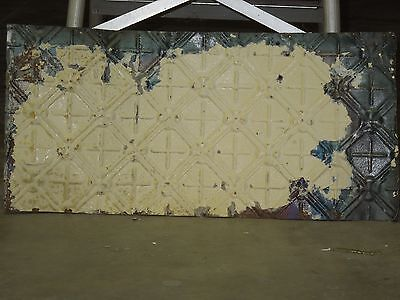 "Old Antique ( Metal )  tin ceiling tile tiles 24""x 11"" filler, backsplash?"