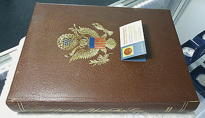 Portfolio of U.S. Coins- Kennedy Mint 4 panel set- free priority shipping
