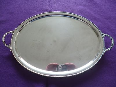 A Fabulous Double Handle Oval Vintage Silver Plated Serving Tray