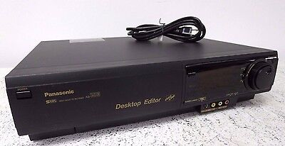 Panasonic AG-1980 AG-1980P Desktop Editor SVHS Super 4-Head VCR Player Recorder