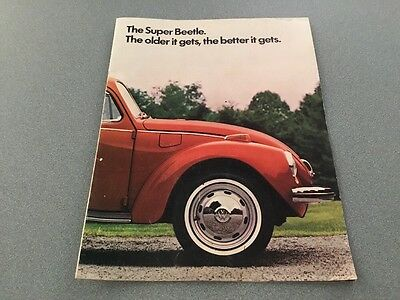 1972 Volkswage VW Super Beetle Car Dealer Brochure -NO RESERVE