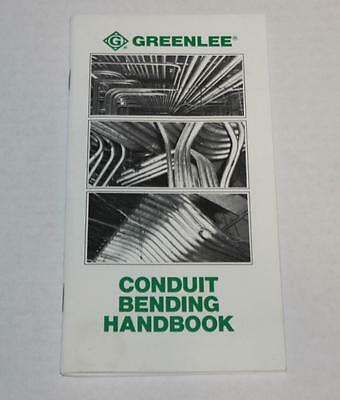 Electricians 1990 Greenlee Conduit Bending Manual Handbook Pocket Book  Tables