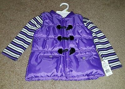 Toddler Girls Purple Vest and Shirt Set Size 4T