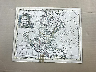 Map of North America circa 1760
