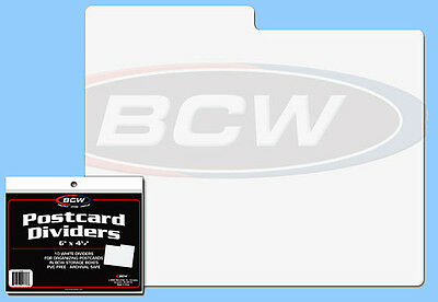 BCW: Storage Box Dividers: POSTCARD SIZE:  10ct:  1 Pack (10 Div)  *FREE USA S&H